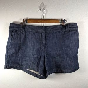 New York & Co dark denim shorts plus size 16